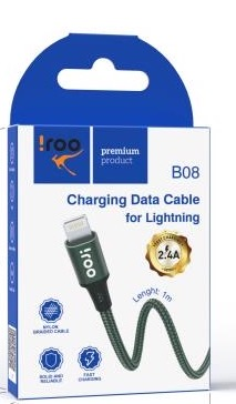 [B08] iRoo B08 | Lightning USB Cable - 1 Meter