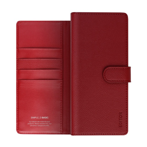 [BC-30749] Korean Simple D Basic | iPhone 11 Pro Max (6.5) - Red