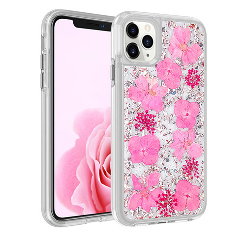 [BC-30834] Coco Dried Flower | iPhone 11 Pro (5.8) - Rose Gold Foil