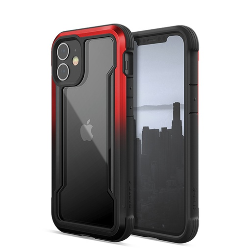 [370402736002] X-doria Raptic Shield | iPhone 12 (5.4) - Red/Black Radiant