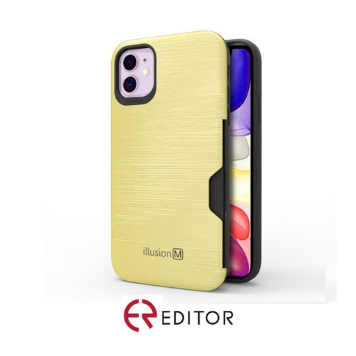 [BC-31304] Editor Illusion w/ Card Slot | iPhone 12 (6.7) – Gold