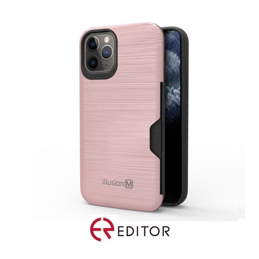 [BC-31306] Editor Illusion w/ Card Slot | iPhone 12 (6.7) – Rose Gold