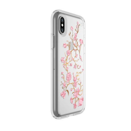 [103136-5754] Speck Presidio Clear + Print | iPhone X/Xs - Golden Blossoms