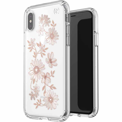 [117131-7278] Speck Presidio Clear + Print | iPhone X/Xs - Fairytale Floral